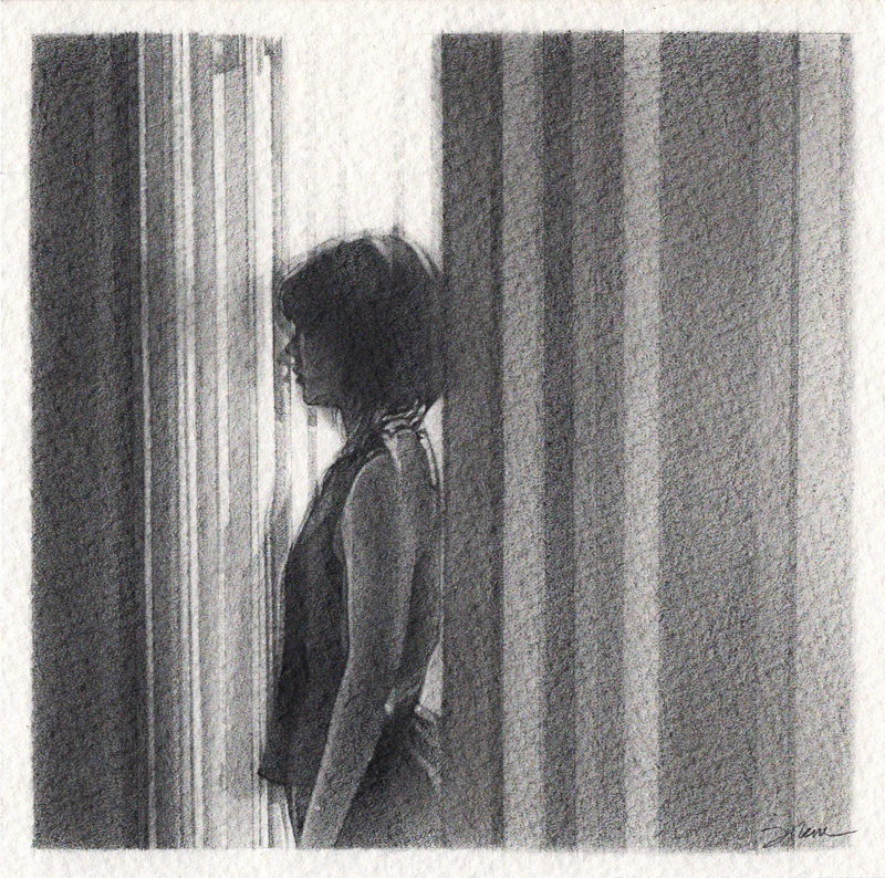 Passing Through, Graphite, 4.7 x 4.7, Jolene Lai, 2018
